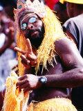 Man in Orange Costume  Crop-Over Festival  Bridgetown