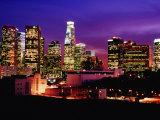 City Skyline  Los Angeles  California