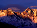 Mt Everest and Lhotse  Sagarmatha  Nepal