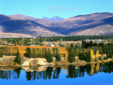 Bannockburn  Reflections in Lake Dunstan and Hector's Range  New Zealand