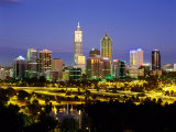 City Skyline with Central Business District at Dusk  Perth  Western Australia