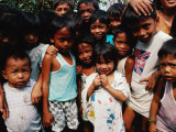 Children on the Valenzuala Dump  Quezon City  Southern Tagalog  Philippines