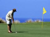 Golfer  Hapuna Golf Course  Kohala Coast  Hawaii  Hawaii