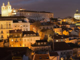 Overlooking Alfama from Largo Portas Do Sol  Lisbon  Portugal