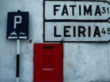 Street Signs and Letterbox in Tomar  Tomar  Ribatejo  Portugal
