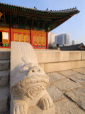The Stone Haetae on Railings  Deoksegung Palace  Seoul  South Korea