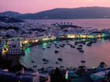 Port View at Sunset  Mykonos Island  Southern Aegean  Greece