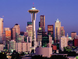 Skyline from Quenn Anne Hill with the Needle  Seattle  Washington