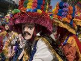 Toro Huaco Dancers in Costume at Fiesta de San Sebastian  Diriamba  Carazo  Nicaragua
