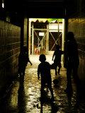Soccer in Corridor of Mercado San Miguel  San Salvador  el Salvador