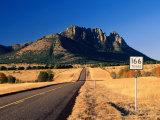 Sawtooth Mountain in Davis Mountains  Fort Davis  Texas