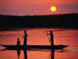 Rowing in Middle Sepik Region  Papua New Guinea