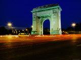 Triumphal Arch at Dusk  Bucharest  Romania