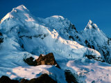 Mountain Peaks Under Snow on Vilcanota Trek  Vilcanota  Cuzco  Peru