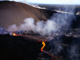 Lava Flow of Kilauea Volcano  Kilauea  Hawaii