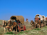 Mormons on Horse Carriages  Mormon Pioneer Wagon Train to Utah  Near South Pass  Wyoming