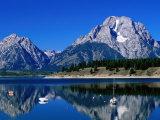 Mount Moran Reflected in Jackson Lake  Grand Teton National Park  Wyoming