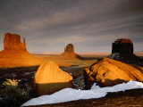 Winter Sunset from Visitor Center  Monument Valley Navajo Tribal Park  Arizona