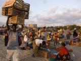 People at Beach Market  Beira  Sofala  Mozambique