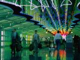 Walkway in International Airport  Chicago  Illinois