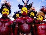 Men at Sing-Sing  Mt Hagen  Western Highlands  Papua New Guinea