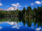 Mt Lassen and Reflection Lake  California