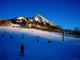 Skiers at Mt Crested Butte  Crested Butte  Colorado