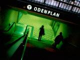Passengers Entering Odenplan Metro Train Station  Stockholm  Sweden
