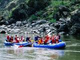 People on Rafting Trip  Snake River  Hells Canyon  Idaho