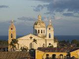 Cathedral and Lake Cocibolca from Belltower of Iglesia la Merced  Granada  Nicaragua