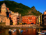 Harbour with Fishing Boats  Vernazza  Cinque Terre  Liguria  Italy