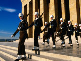 Changing of Guard at Anit Kabir Mausoleum at Ataturk Monument  Ankara  Turkey