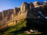 View of Gruppo Sella from Passo Gardena  Dolomites  Italy
