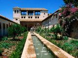 Patio de la Acequia  Generalife  Alhambra  Granada  Andalucia  Spain