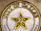 City Crest on City Hall  Dallas  Texas