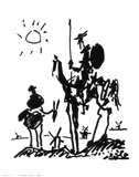 Don Quichotte Reproduction d'art par Pablo Picasso
