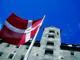 Dannebrog  The Danish Flag  In Front of Admiral Hotel  Copenhagen  Denmark