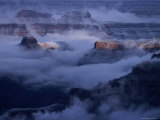 Cloudy  Winters Morning on the South Rim  Grand Canyon National Park  Arizona