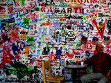 Stencil Graffiti in Centro Cultural Recoleta  Buenos Aires  Argentina