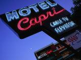 Motel Neon Sign  Act  Union Square  San Francisco  California