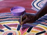 Painting of Aboriginal Artwork  Northern Territory  Australia