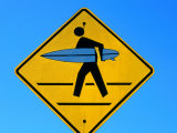 Surfer Warning Sign  Kauai  Hawaii