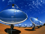 Solar Dishes  White Cliffs  New South Wales  Australia