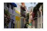 Colorful Street  Old San Juan  Puerto Rico
