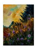 Cornflowers Yellow Purple