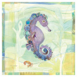Playful Seahorse Reproduction d'art par Robbin Rawlings
