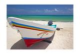 Fishing Boat on Playa Del Carmen  Mexico