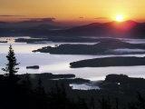 Sunrise over Moosehead Development  Greenville  Maine