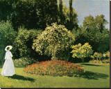 Jeanne Marguerite Lecadre in a Garden, c.1867 Tableau sur toile par Claude Monet