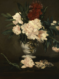 Vase with Peonies on a Pedestal  c1864